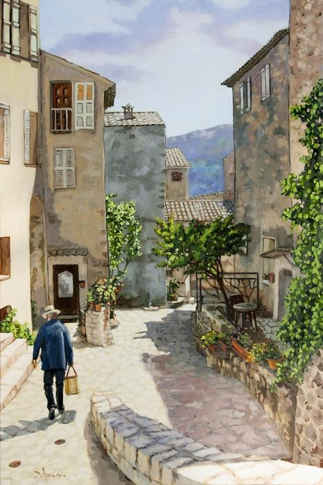 A provence village perched high in the Alps in the south of Francel